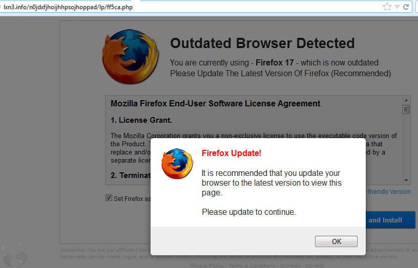 Mettre à jour le navigateur Firefox