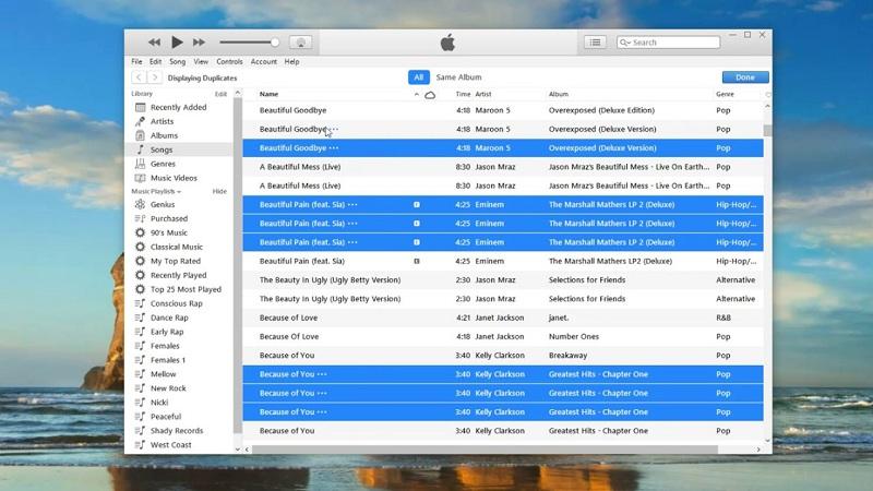Fichiers en double iTunes