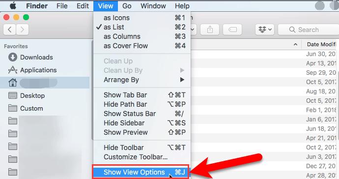 Attachez la taille de colonne pour afficher la catégorie dans l'application Finder