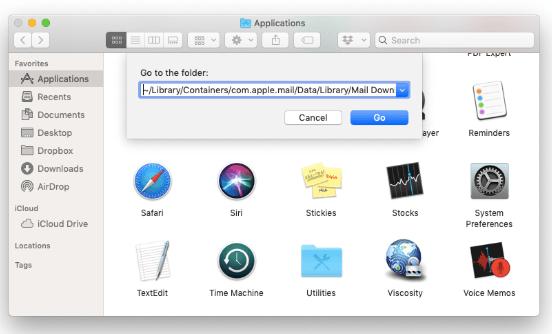 Suppression manuelle de pièces jointes dans Mac Mail dans le Finder