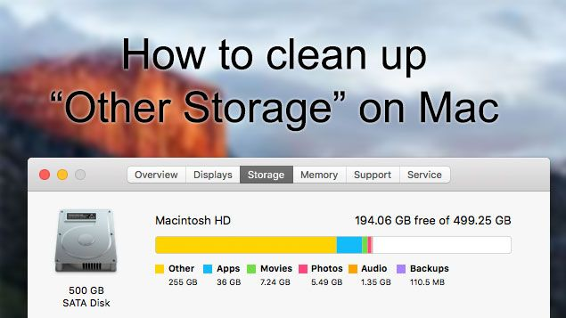 Comment nettoyer un autre stockage Mac