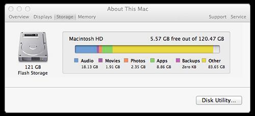 Comment vérifier l'espace disque sur Mac