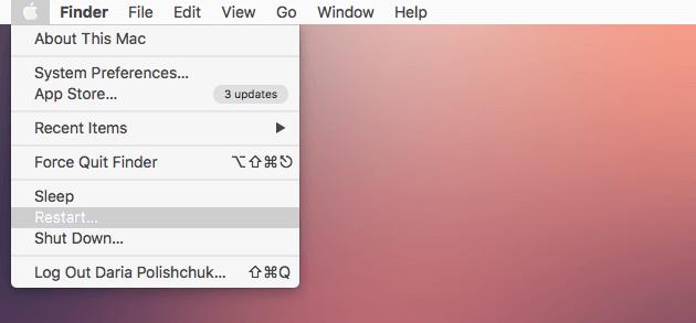 Resatrat Mac pour accélérer Mac