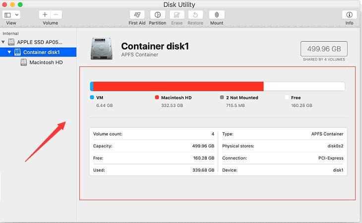 Consultez votre disque pour voir ce qui prend de l'espace et localiser les fichiers