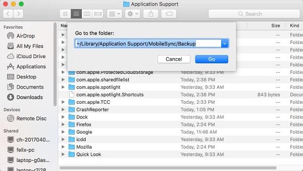 Supprimer les anciennes sauvegardes iOS