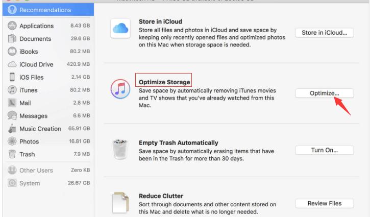 Gérer le stockage sur votre Mac
