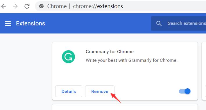 Supprimer les extensions Chrome